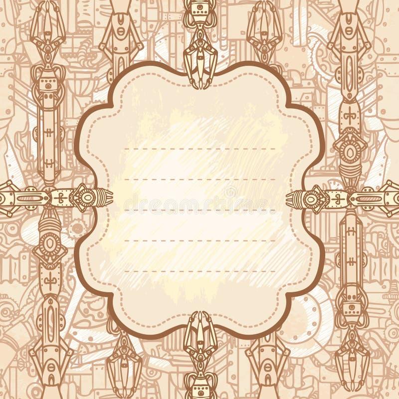 Trame tirée de steampunk illustration libre de droits