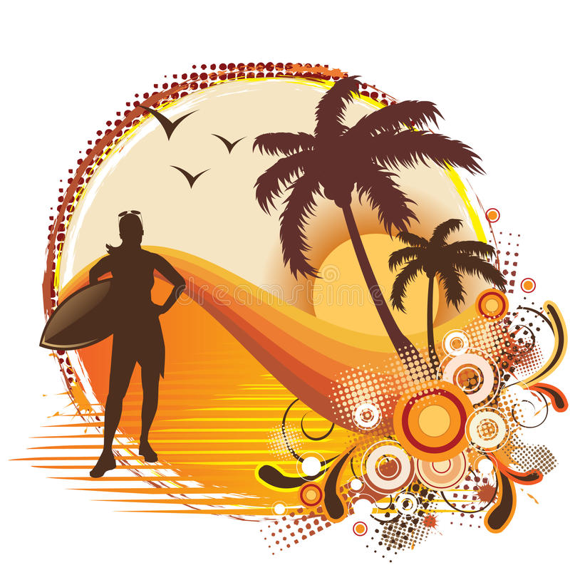 trame tropicale illustration libre de droits