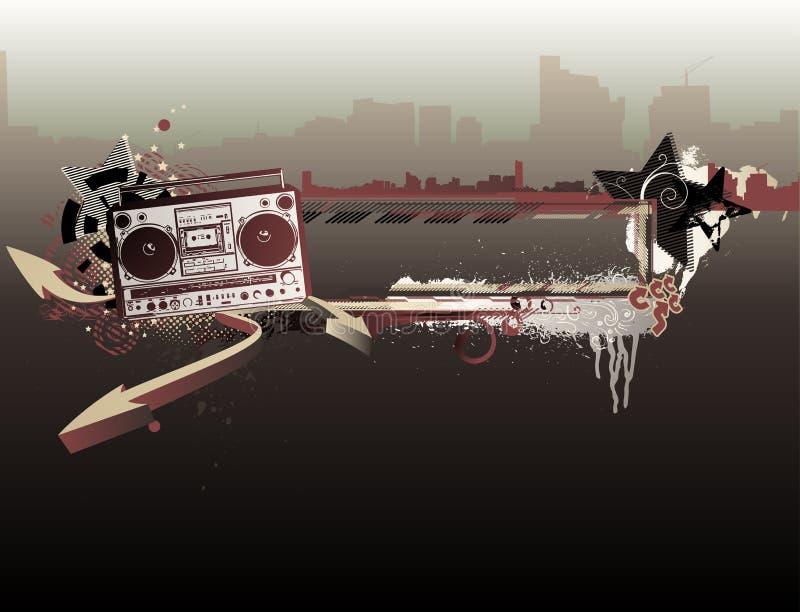 Download Trame urbaine de musique illustration de vecteur. Illustration du lifestyle - 8671120