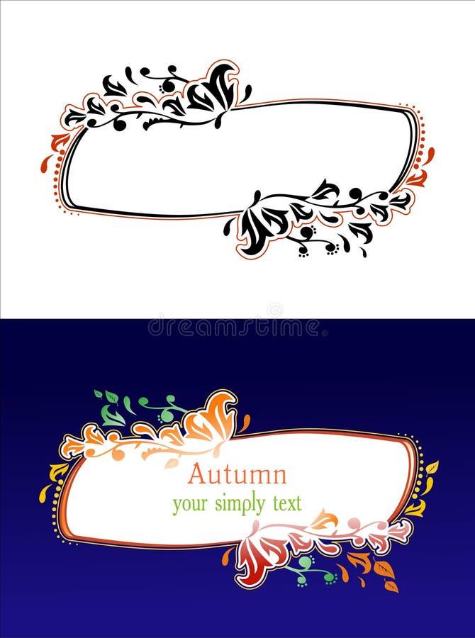Trame/vecteur floraux d'automne illustration libre de droits