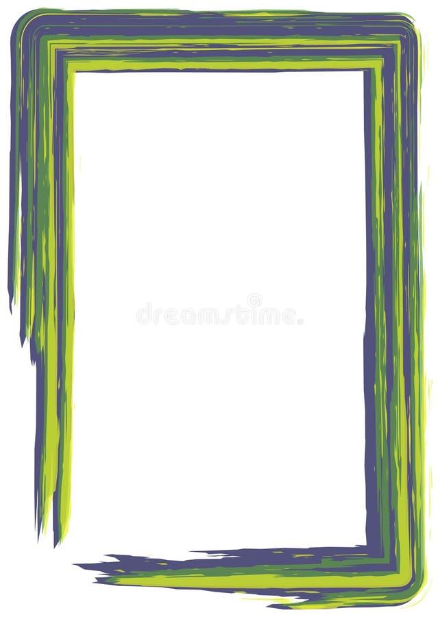 Trame verte et bleue de peinture illustration de vecteur
