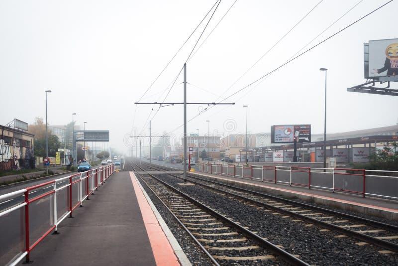 Trameinde in Praag, Tsjechische Republiek stock foto's
