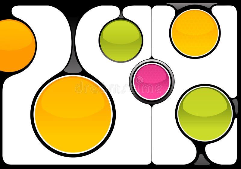 Trames abstraites de techno illustration de vecteur