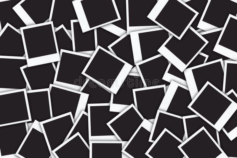Trames blanc de photo illustration stock