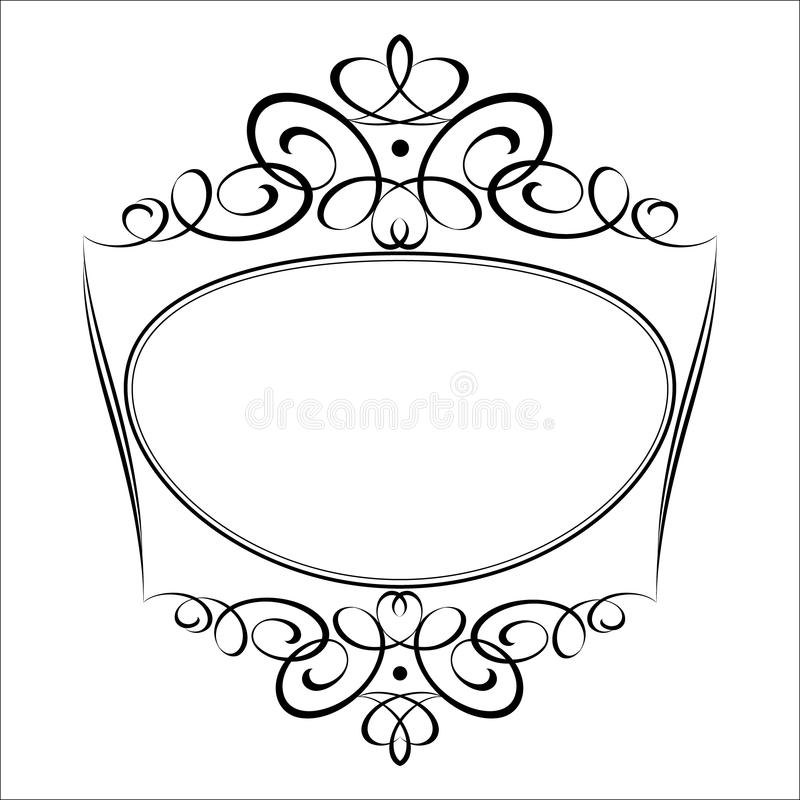 Trames décoratives Illustration de vecteur Blanc noir illustration stock