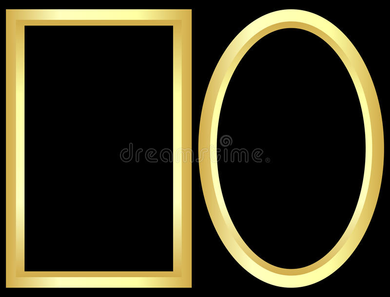Trames d'or illustration stock
