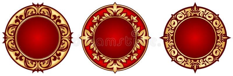 Trames de cercle illustration de vecteur