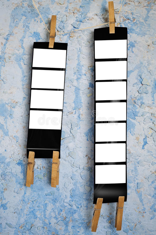 Trames de film moyennes de format photos stock