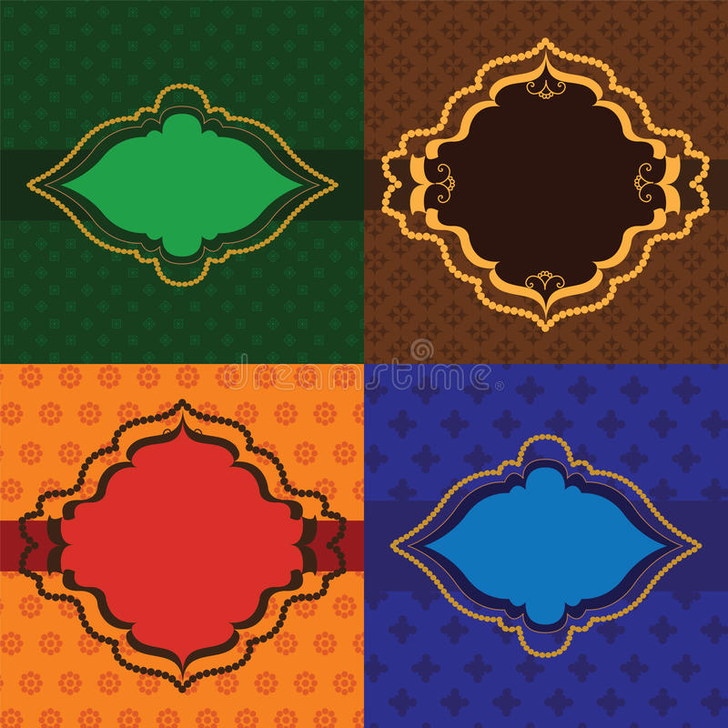 Trames de henné illustration libre de droits
