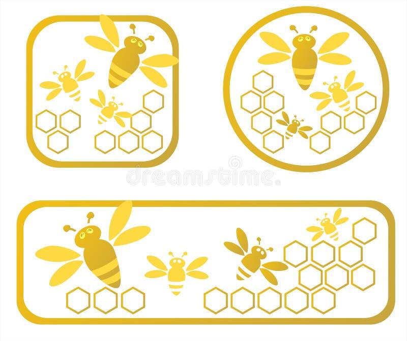 Trames de miel illustration de vecteur