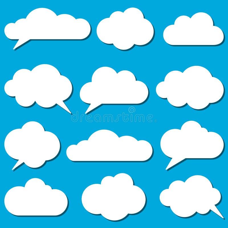 Trames de nuages illustration de vecteur