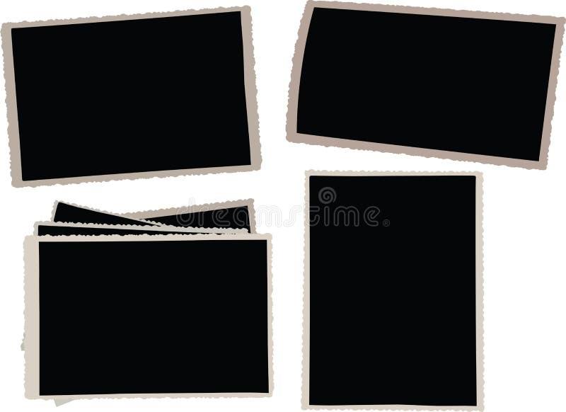 Trames de photo de cru illustration stock