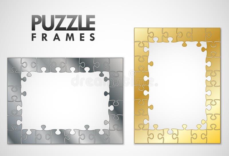 Trames de puzzle illustration de vecteur