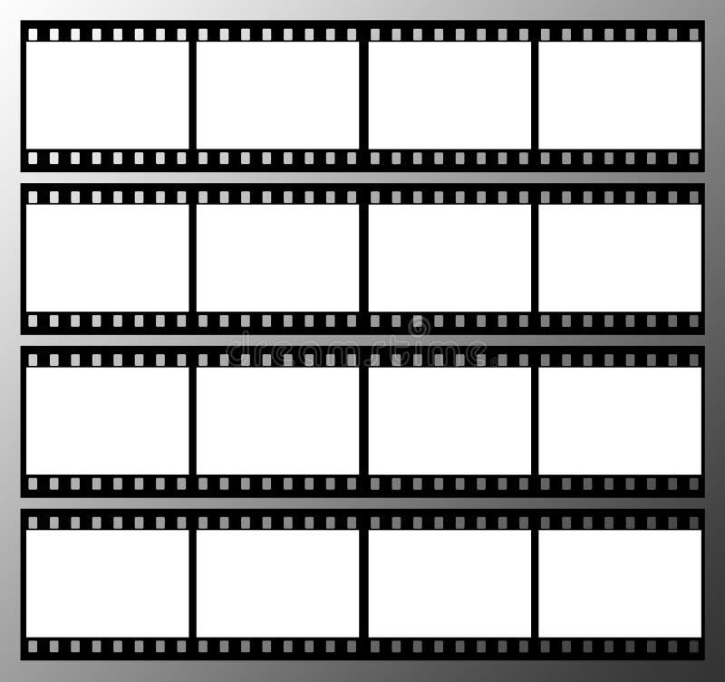trames de trame de bande de film de 35mm illustration libre de droits