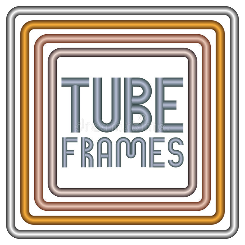 Trames de tube en métal illustration stock