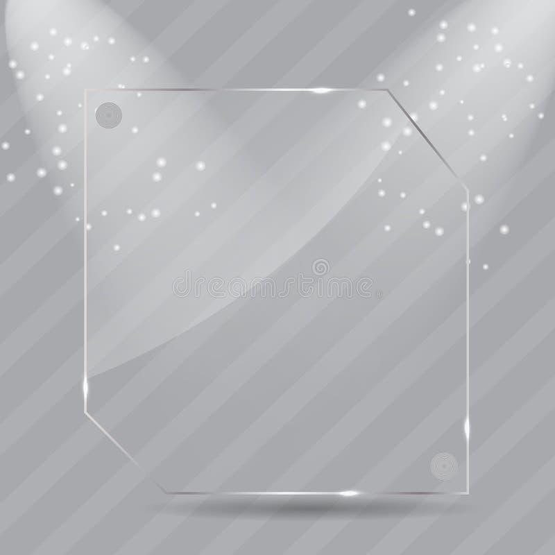 Trames en verre réalistes. Illustration de vecteur illustration de vecteur