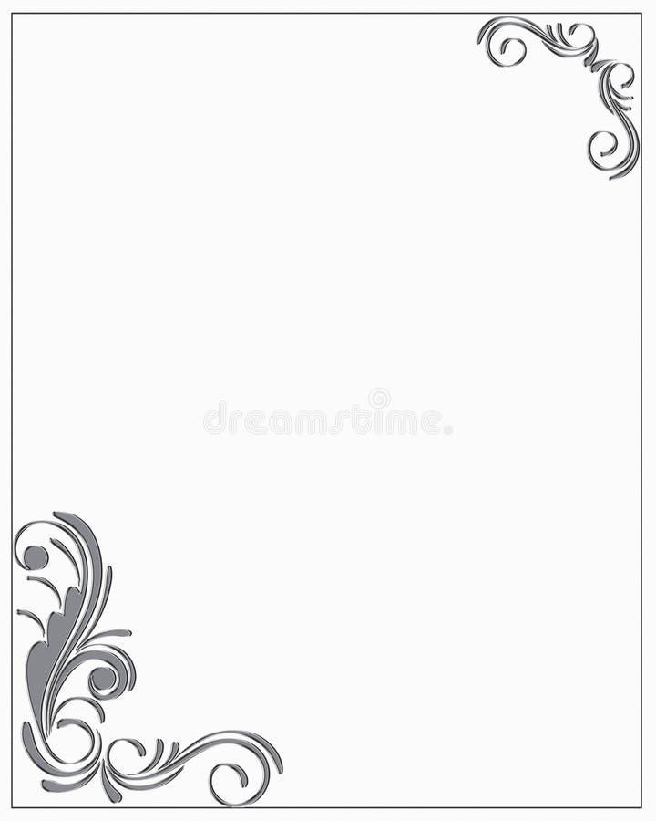Trames et cadres décoratifs illustration de vecteur