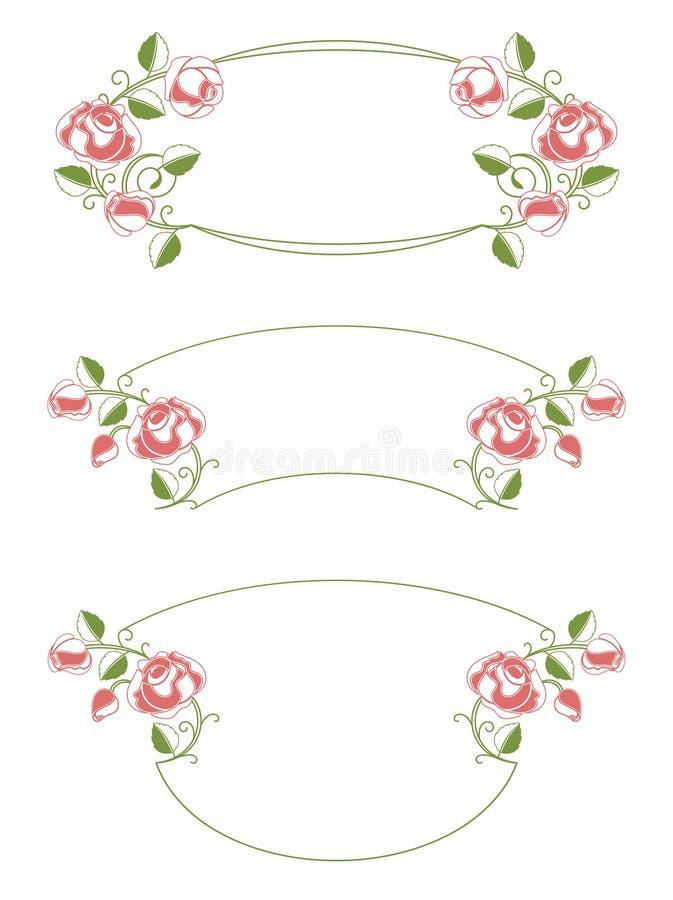 Trames et vignette florales illustration libre de droits