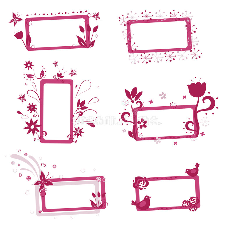 Trames florales illustration stock
