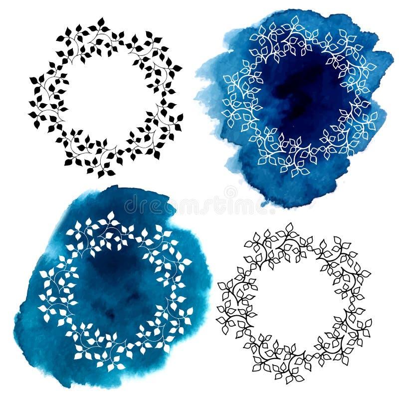 Trames florales décoratives illustration de vecteur