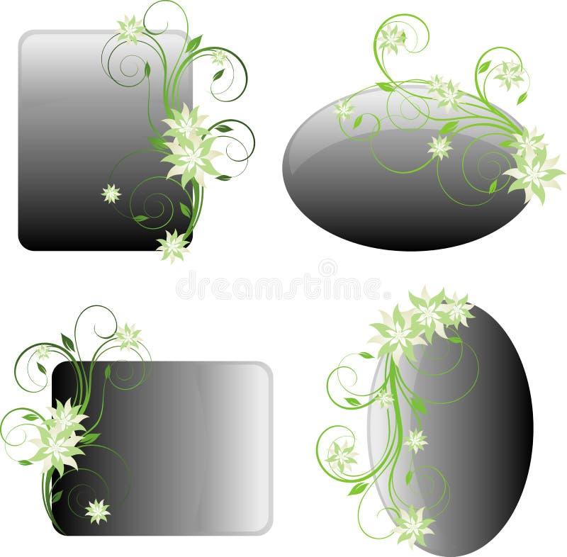 Trames florales de conception illustration libre de droits