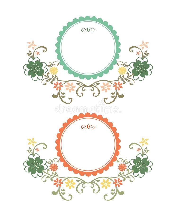 Trames florales de cru illustration stock