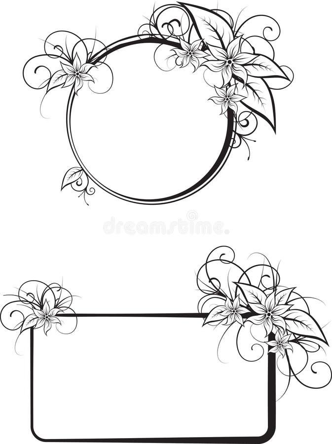 Trames florales de vecteur illustration stock