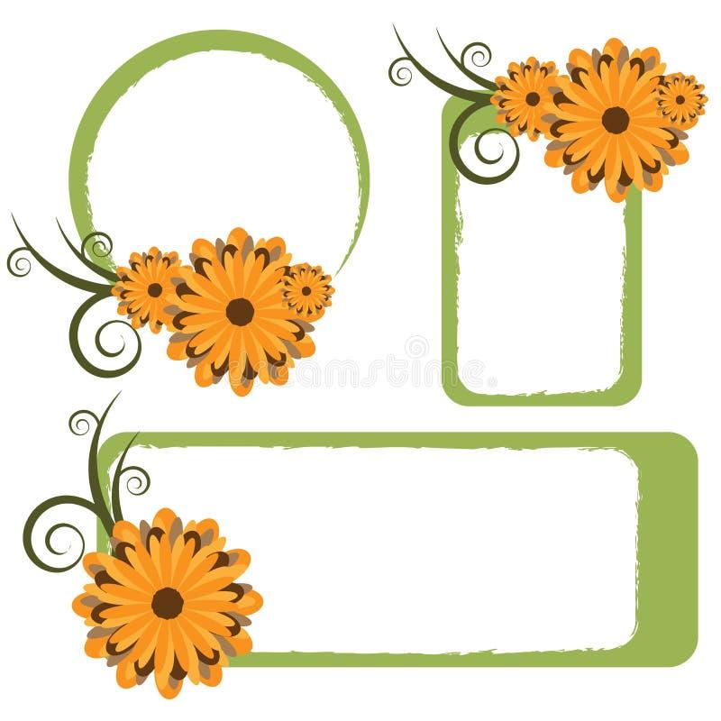 Trames florales - vecteur illustration de vecteur
