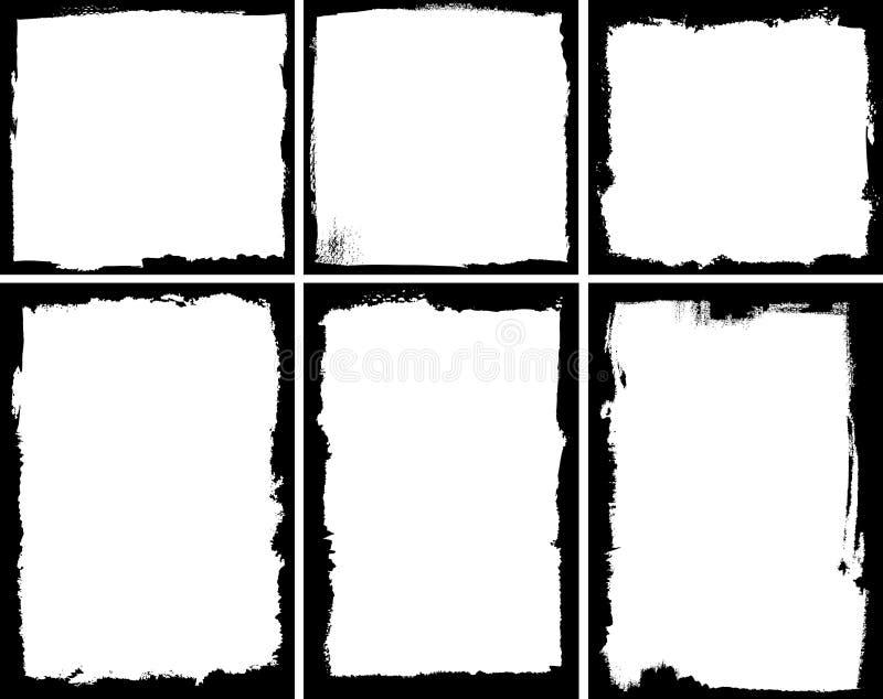 Trames grunges illustration de vecteur