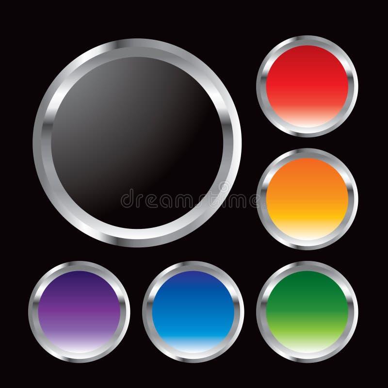 Trames multiples en métal de couleur illustration stock