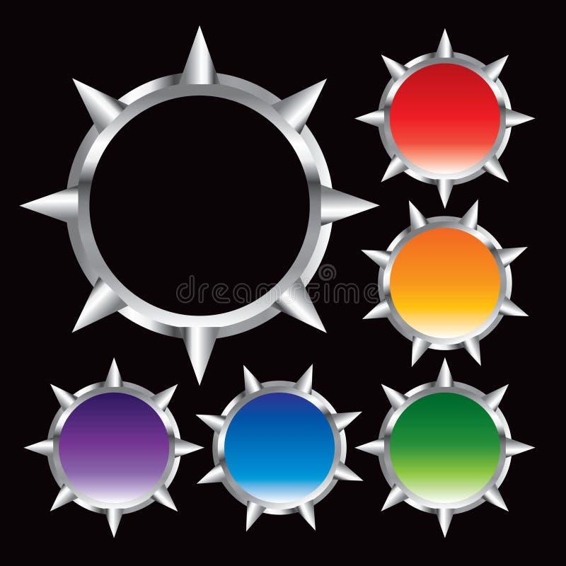 Trames multiples en métal de couleur illustration de vecteur