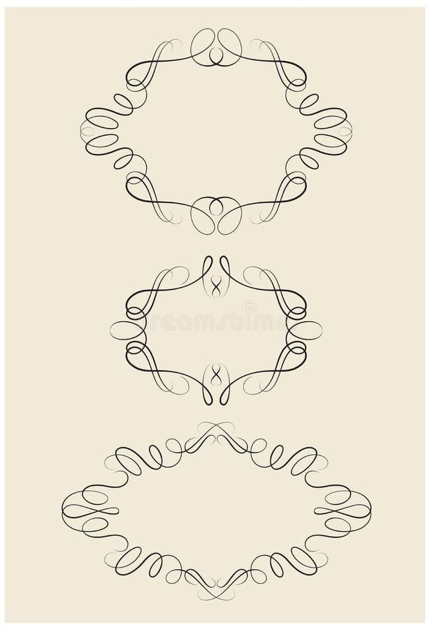 Trames noires décoratives illustration stock