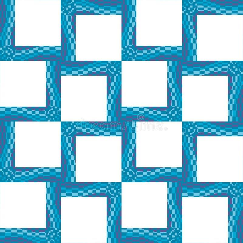 Trames ondulées carrées illustration de vecteur