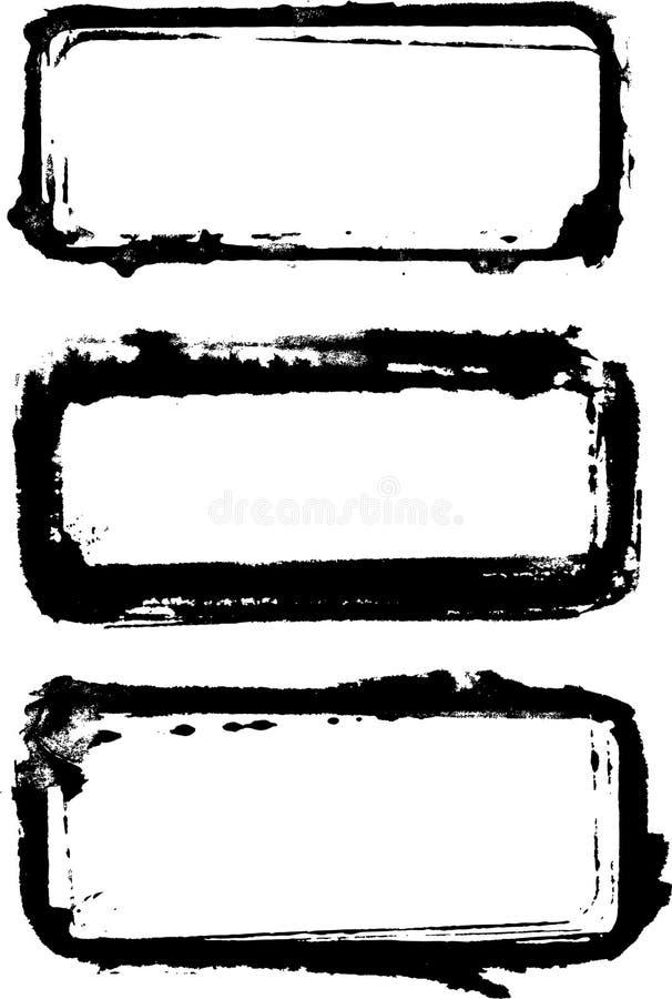 Trames peintes illustration de vecteur