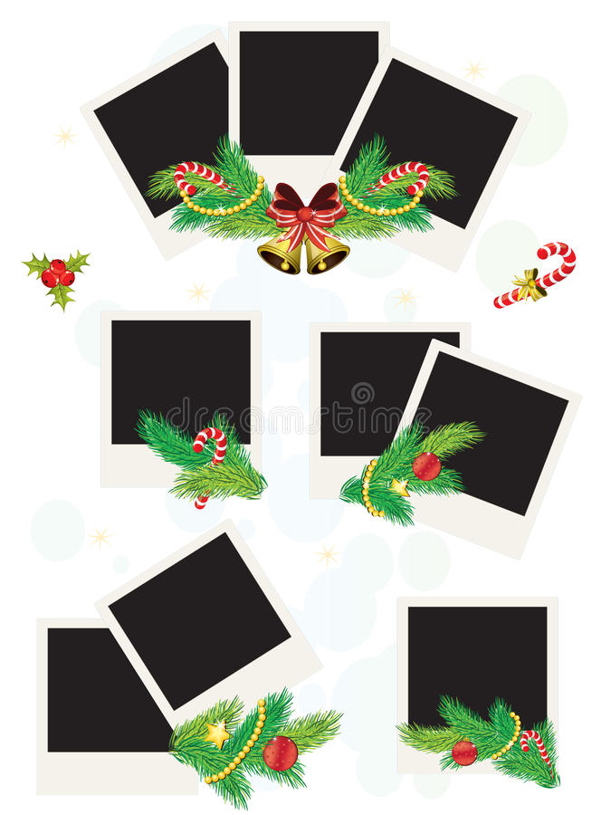 Trames polaroïd de photo de Noël illustration stock