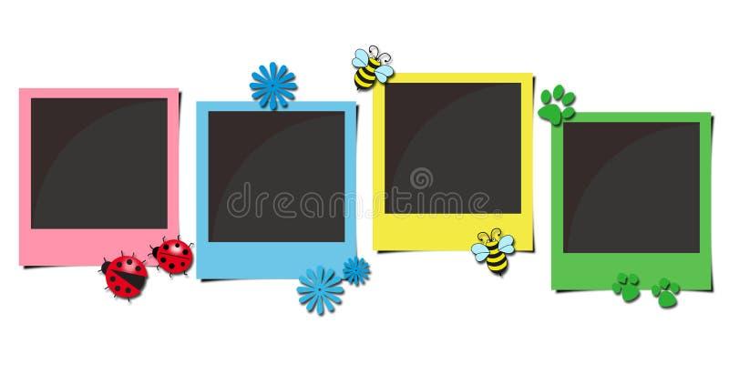 Trames polaroïd multicolores de photo illustration stock