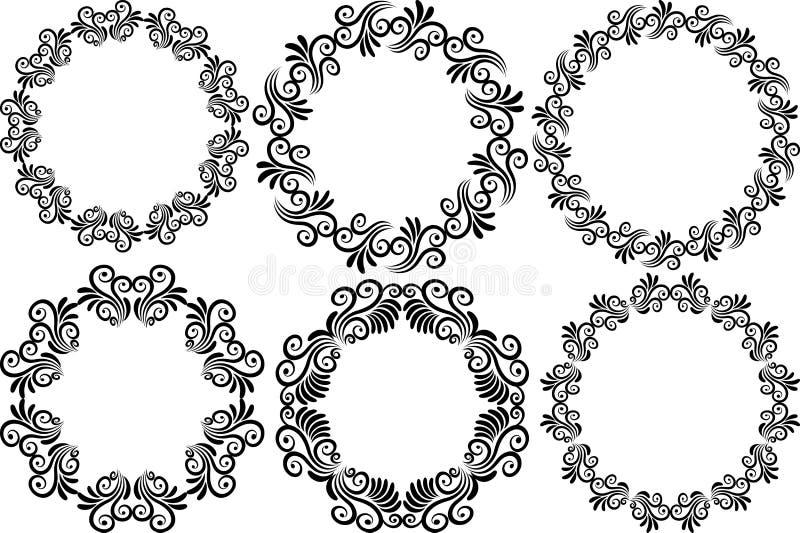Trames rondes illustration de vecteur