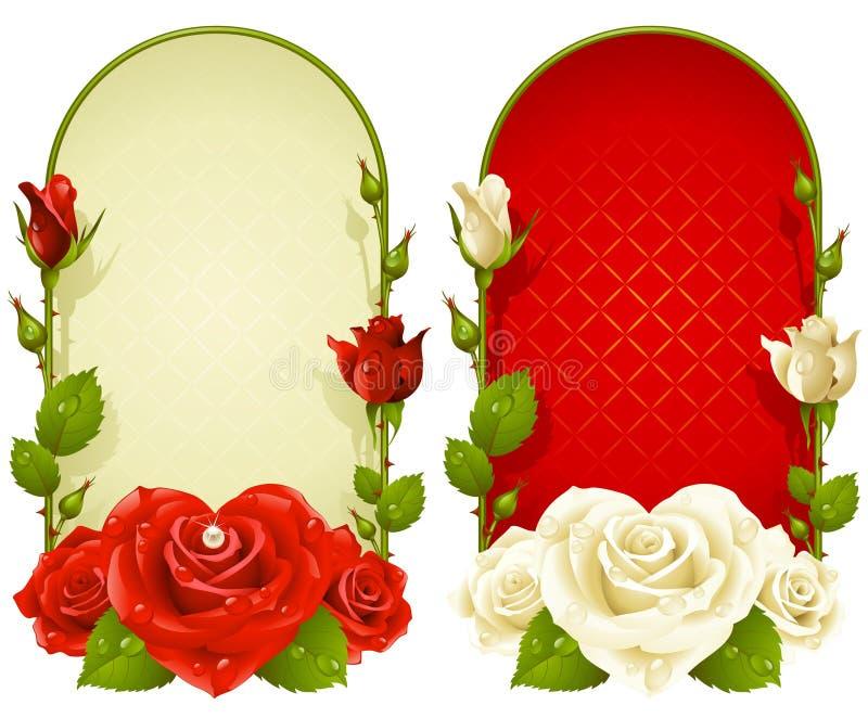 Trames roses de vecteur d'isolement sur le fond blanc illustration de vecteur