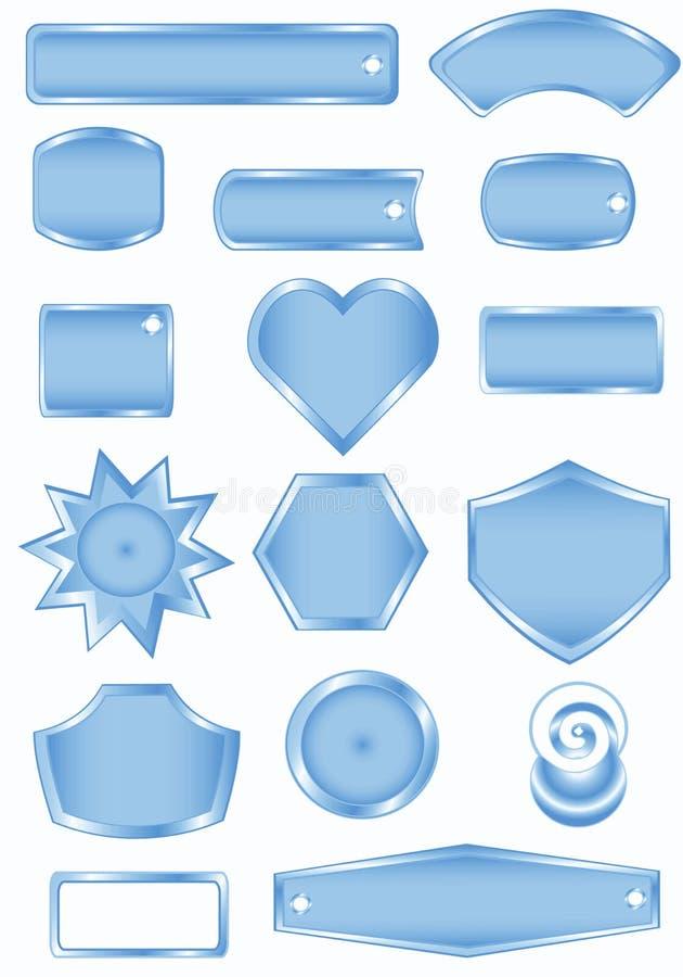 Trames vides bleues illustration libre de droits