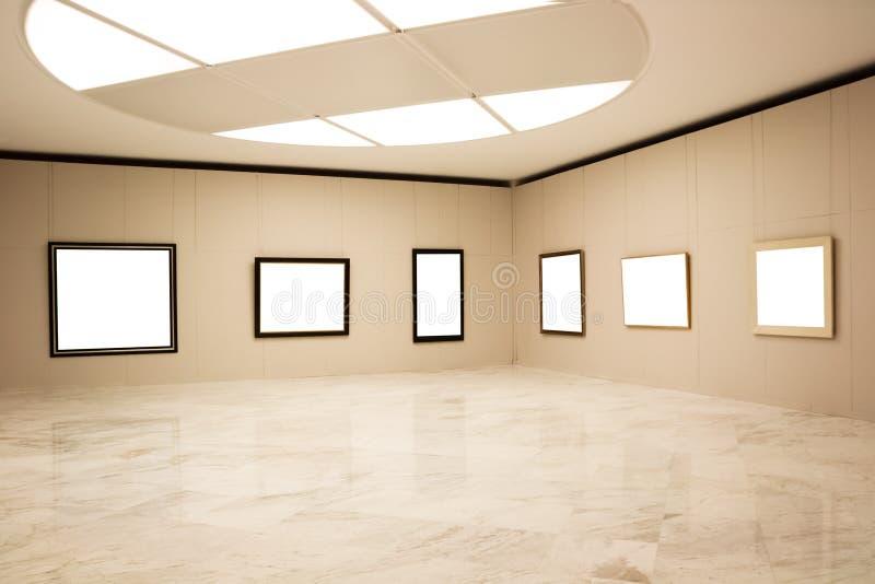 Trames vides sur le mur photographie stock