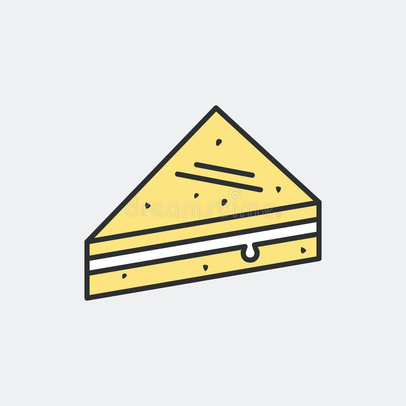 Tramezzino三明治标志概念 向量例证