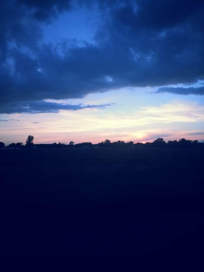 tramonti immagine stock