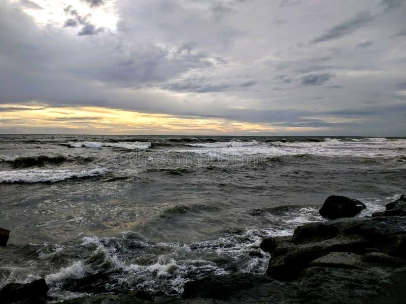 Tramonti di Echo Beach fotografia stock libera da diritti