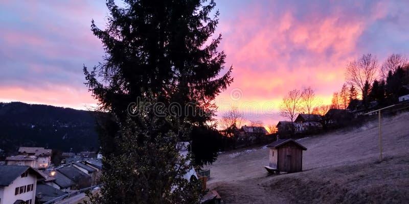 tramonto imagen de archivo libre de regalías
