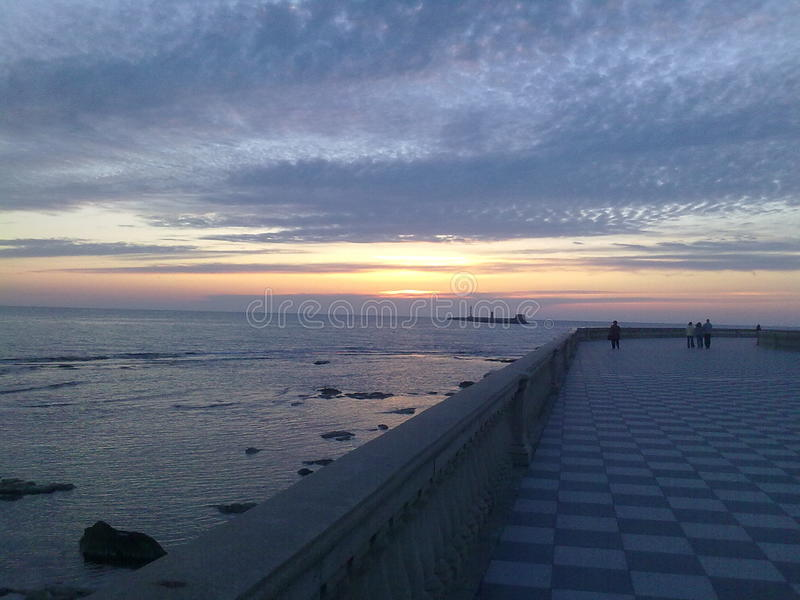 tramonto photos libres de droits