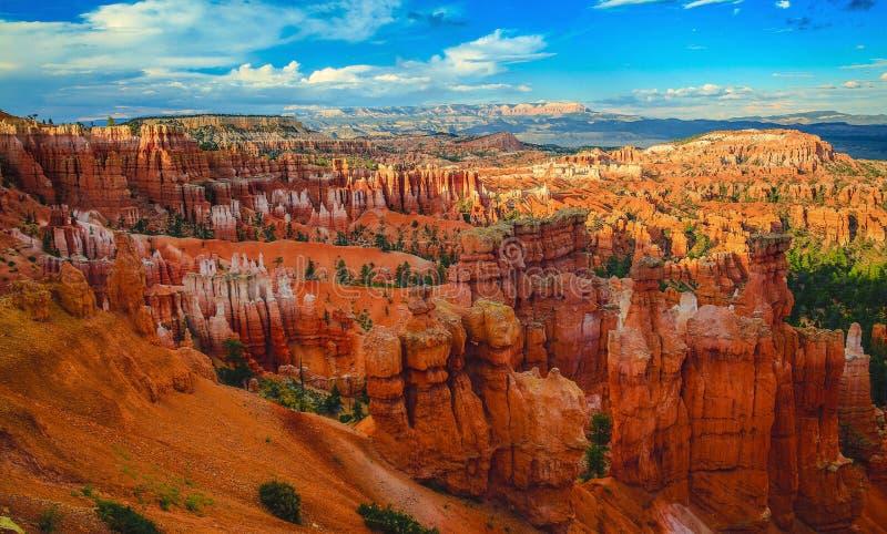 Tramonto al canyon di Bryce fotografia stock libera da diritti