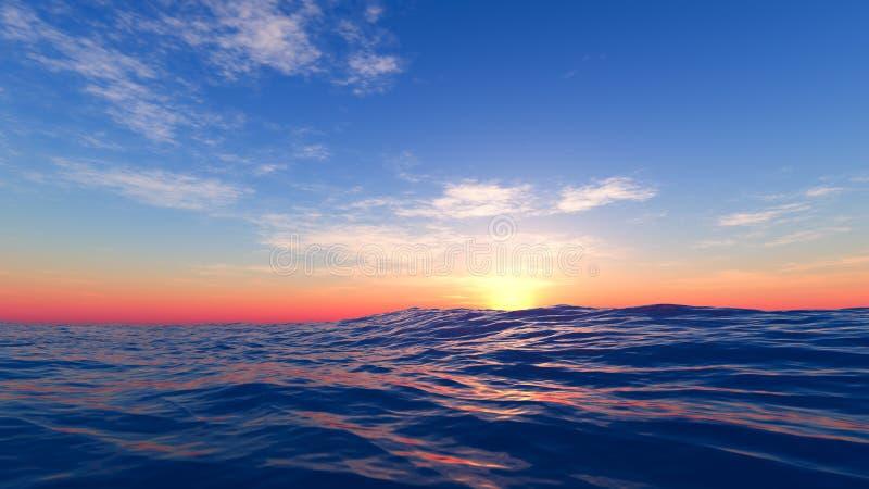 Tramonto al mare immagini stock libere da diritti