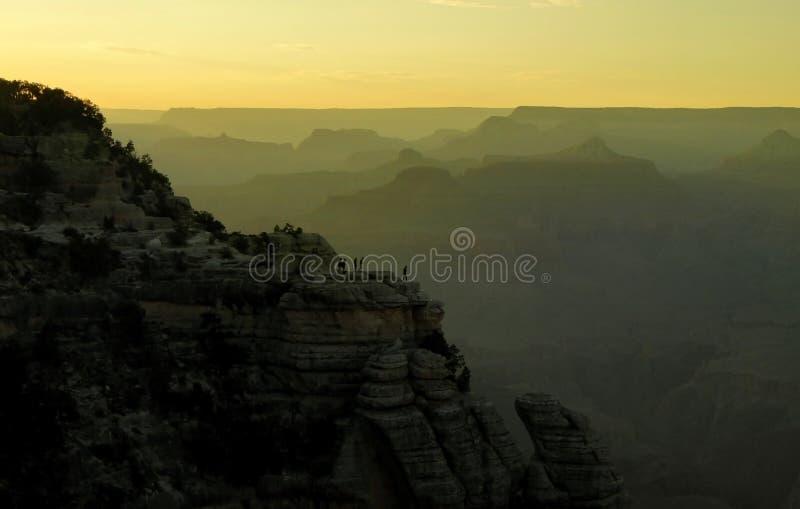 Tramonto al parco nazionale di Grand Canyon, Arizona, Stati Uniti immagini stock libere da diritti