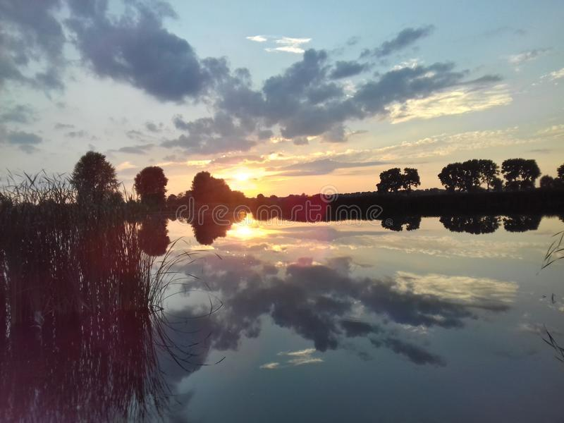 Tramonto/alba affascinanti fotografia stock