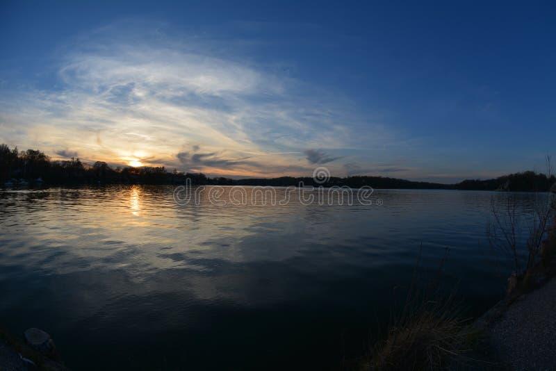 Tramonto a Annapolis fotografie stock libere da diritti